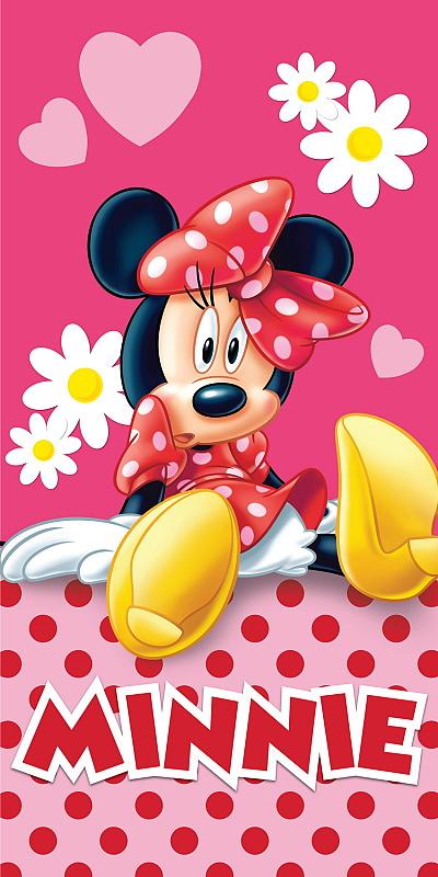Dětská osuška Minnie  pinkie 75x150 cm