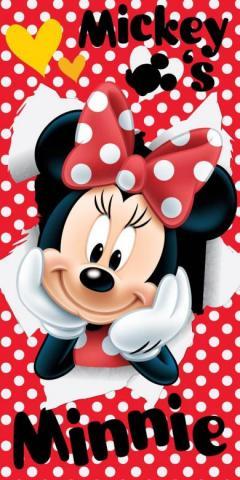 Dětská osuška Minnie red 02