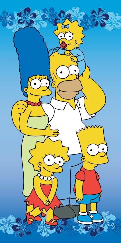 Dětská osuška Simpsons family 2015