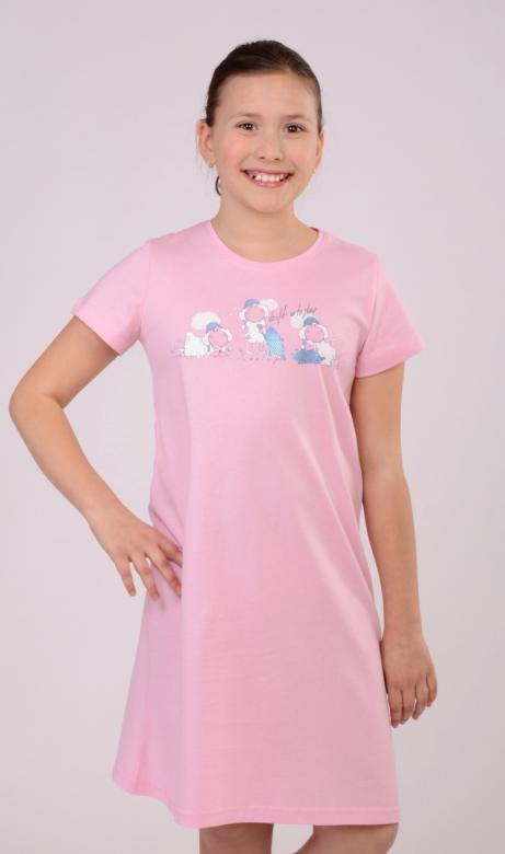 Dětská růžová noční košile Vienetta Secret Malé ovce