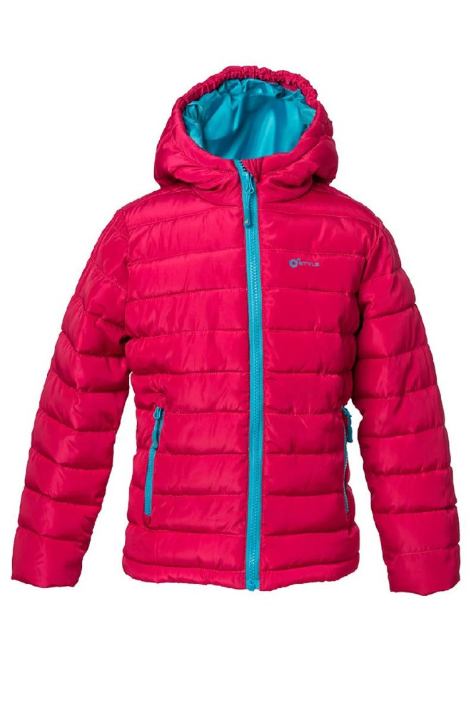Dětská zateplená bunda O´Style 8284 pink