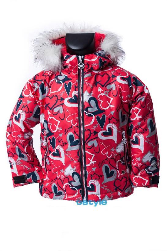 Dětská zimní bunda O´Style 8141 hearts