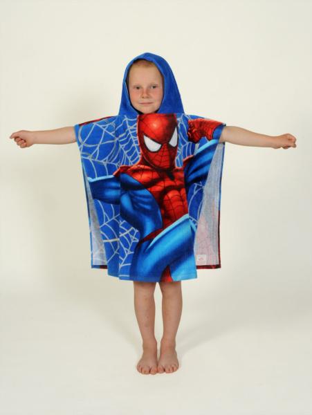 Dětské bavlněné pončo - Spiderman