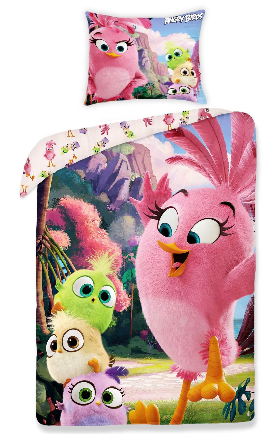 Dětské bavlněné povlečení Angry birds 1155