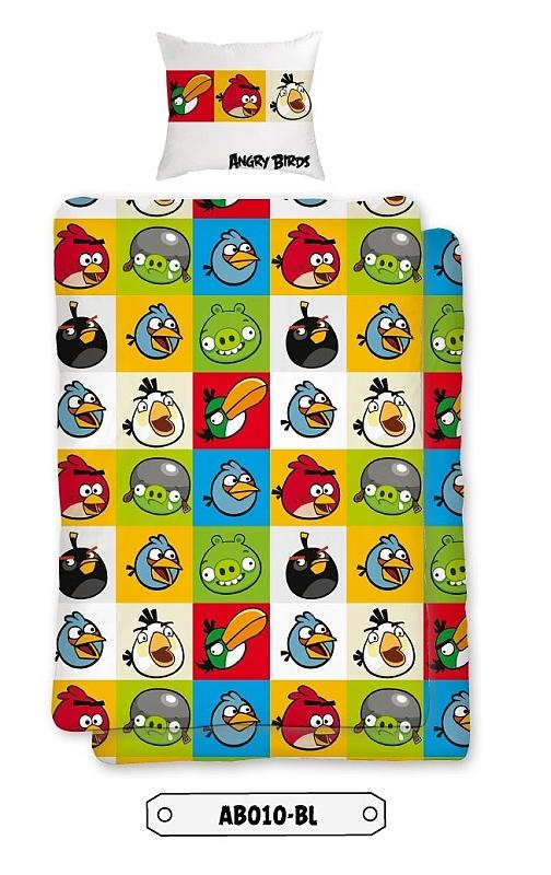 Dětské bavlněné povlečení - Angry birds AB010 BL