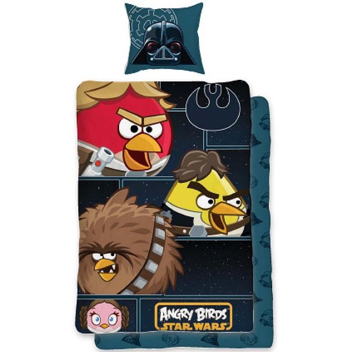 Dětské bavlněné povlečení - Angry birds Star Wars