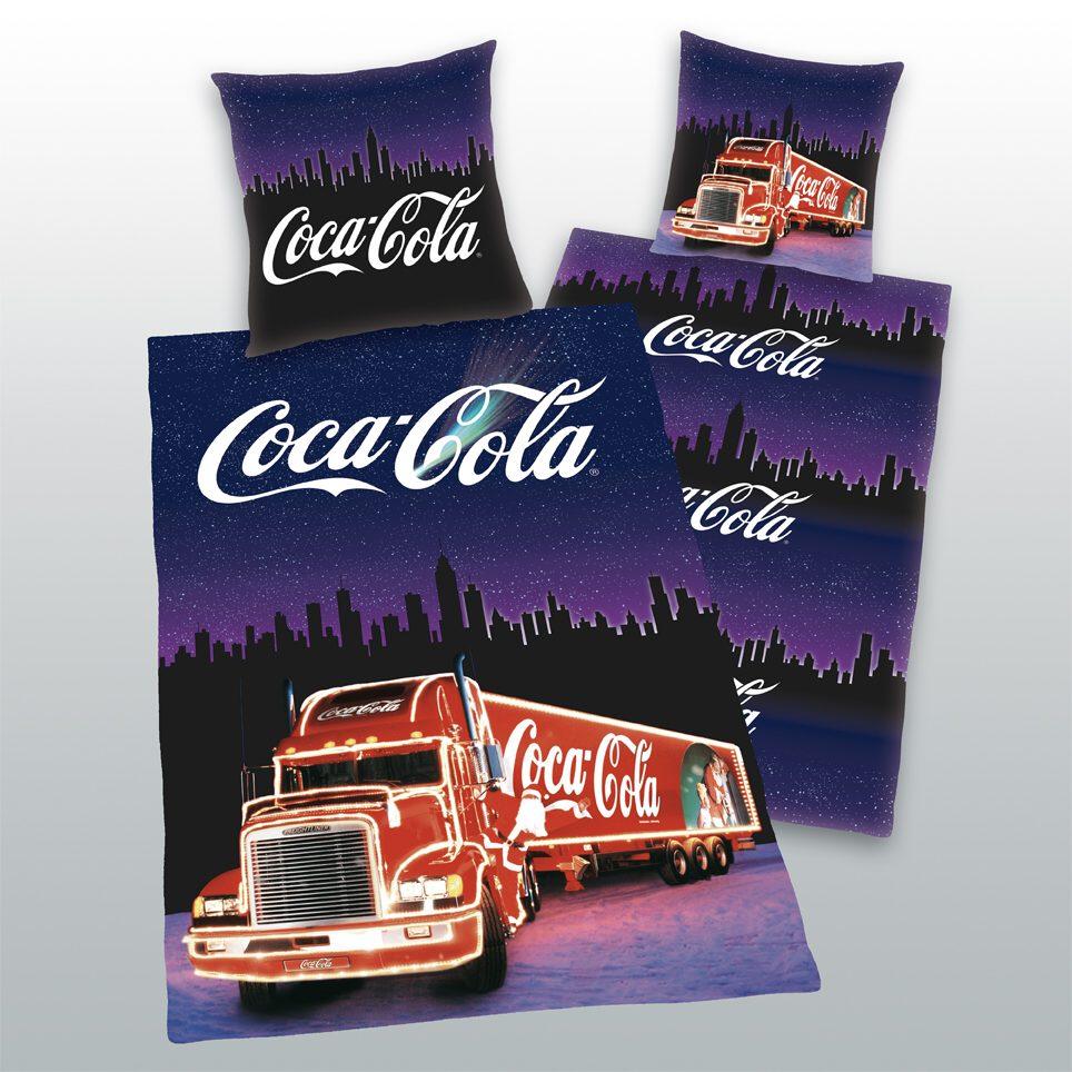 Dětské bavlněné povlečení - Coca Cola kamion