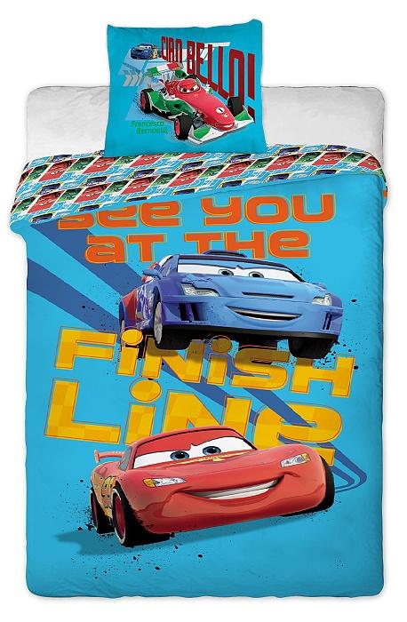 Dětské bavlněné povlečení Disney - Cars 2013 blue