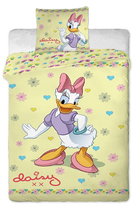 Dětské bavlněné povlečení Disney Daisy yellow