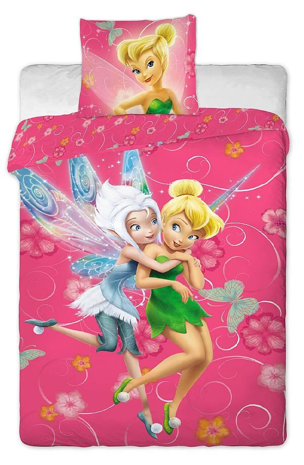 Dětské bavlněné povlečení Disney Fairies pinkie