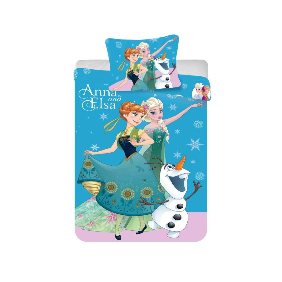 Dětské bavlněné povlečení Disney Frozen blue