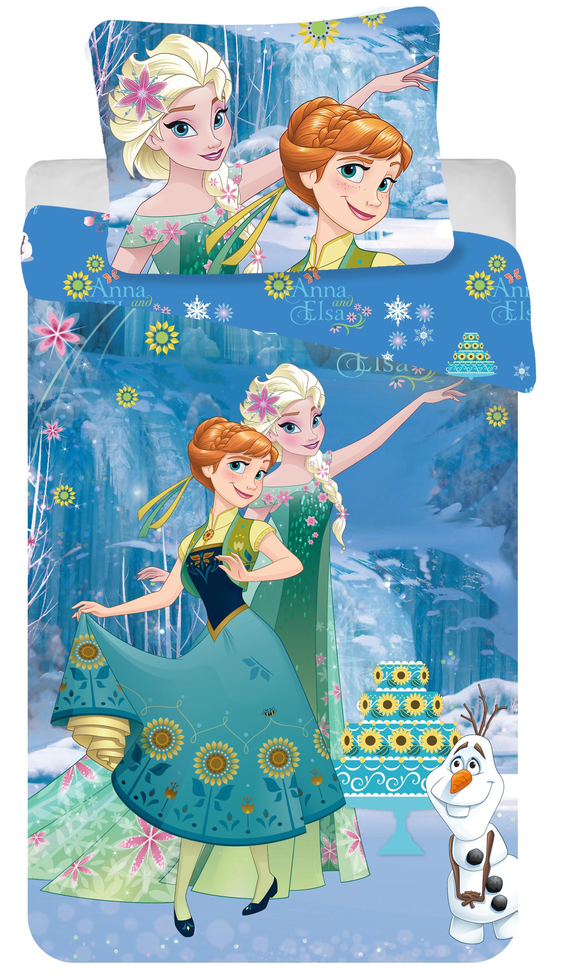 Dětské bavlněné povlečení Disney Frozen cake