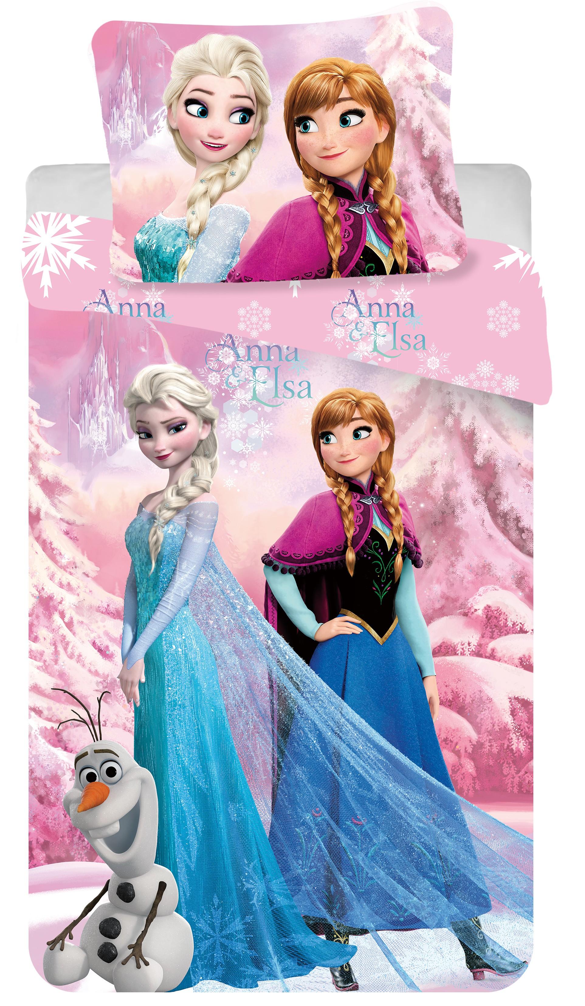 Dětské bavlněné povlečení Disney Frozen pink 2016