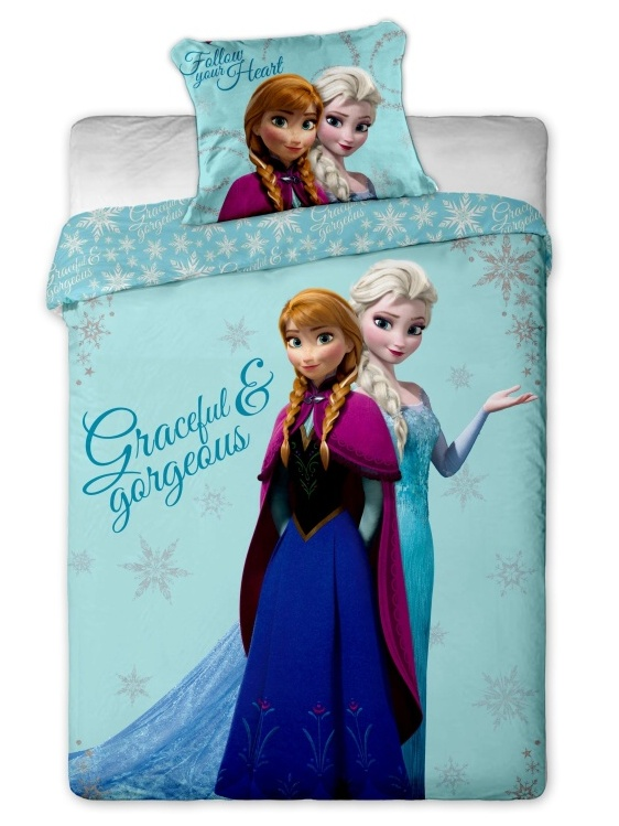 Dětské bavlněné povlečení Disney Frozen sisters