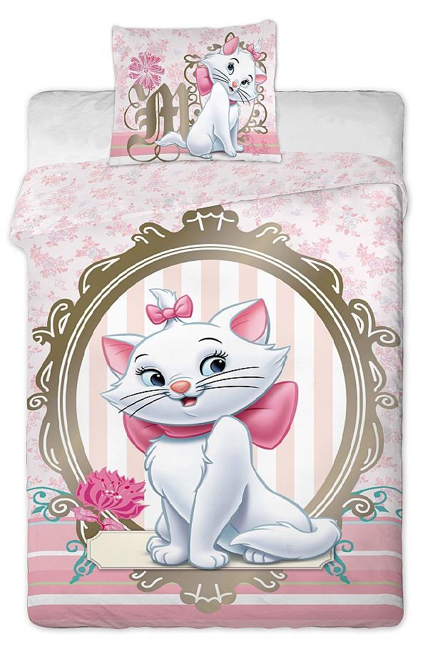Dětské bavlněné povlečení Disney Marie Cat gold