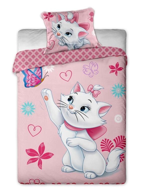 Dětské bavlněné povlečení Disney Marie Cat motýl