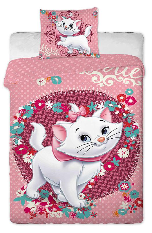 Dětské bavlněné povlečení Disney Marie Cat pinkie 2014