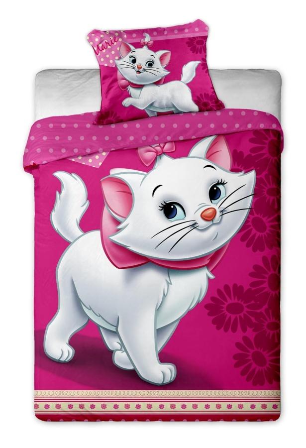 Dětské bavlněné povlečení Disney Marie Cat violet