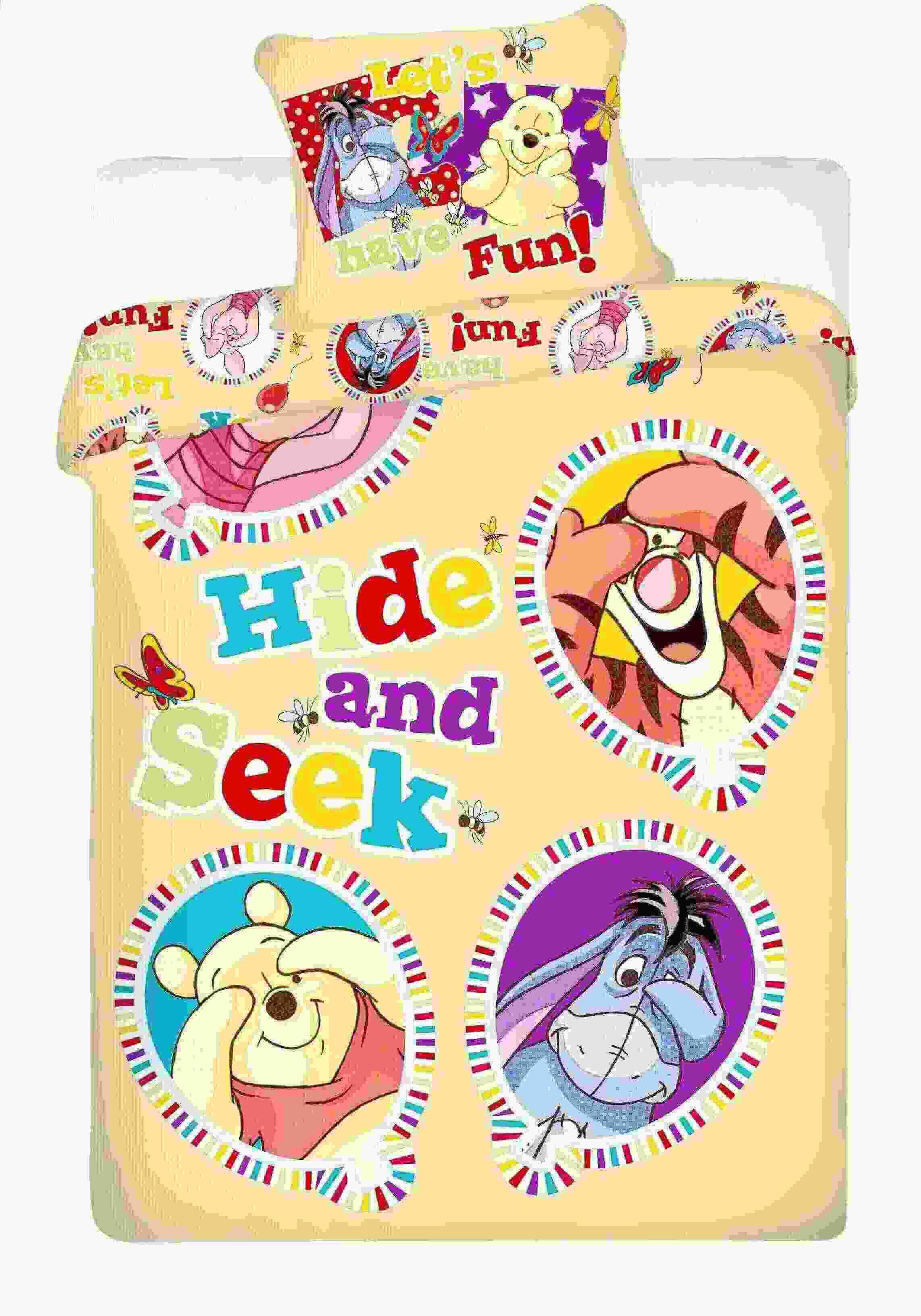 Dětské bavlněné povlečení Disney Medvídek Pů balloon