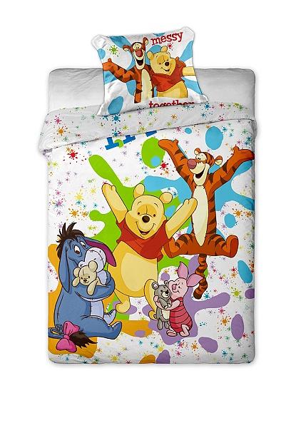 Dětské bavlněné povlečení Disney Medvídek Pů colours