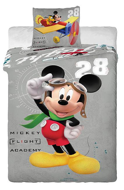 Dětské bavlněné povlečení Disney - Mickey a Plane