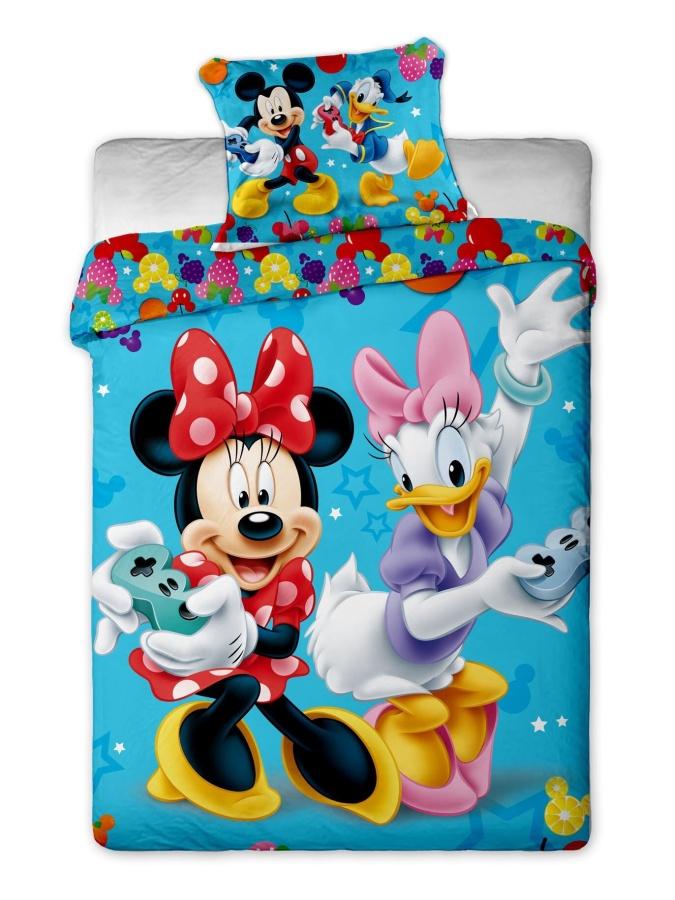 Dětské bavlněné povlečení Disney Mickey and Minnie games