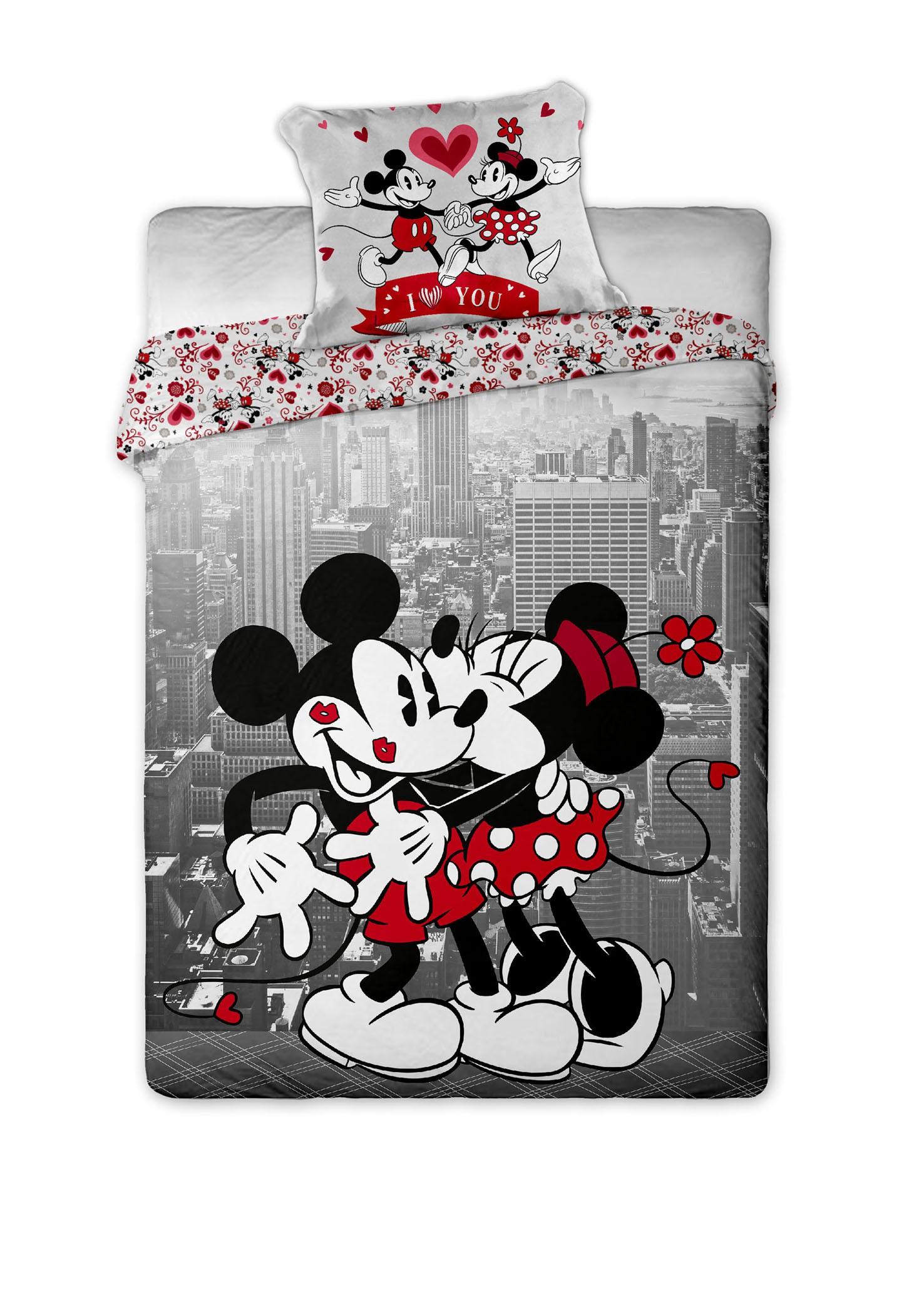 Dětské bavlněné povlečení Disney Mickey and Minnie v NY