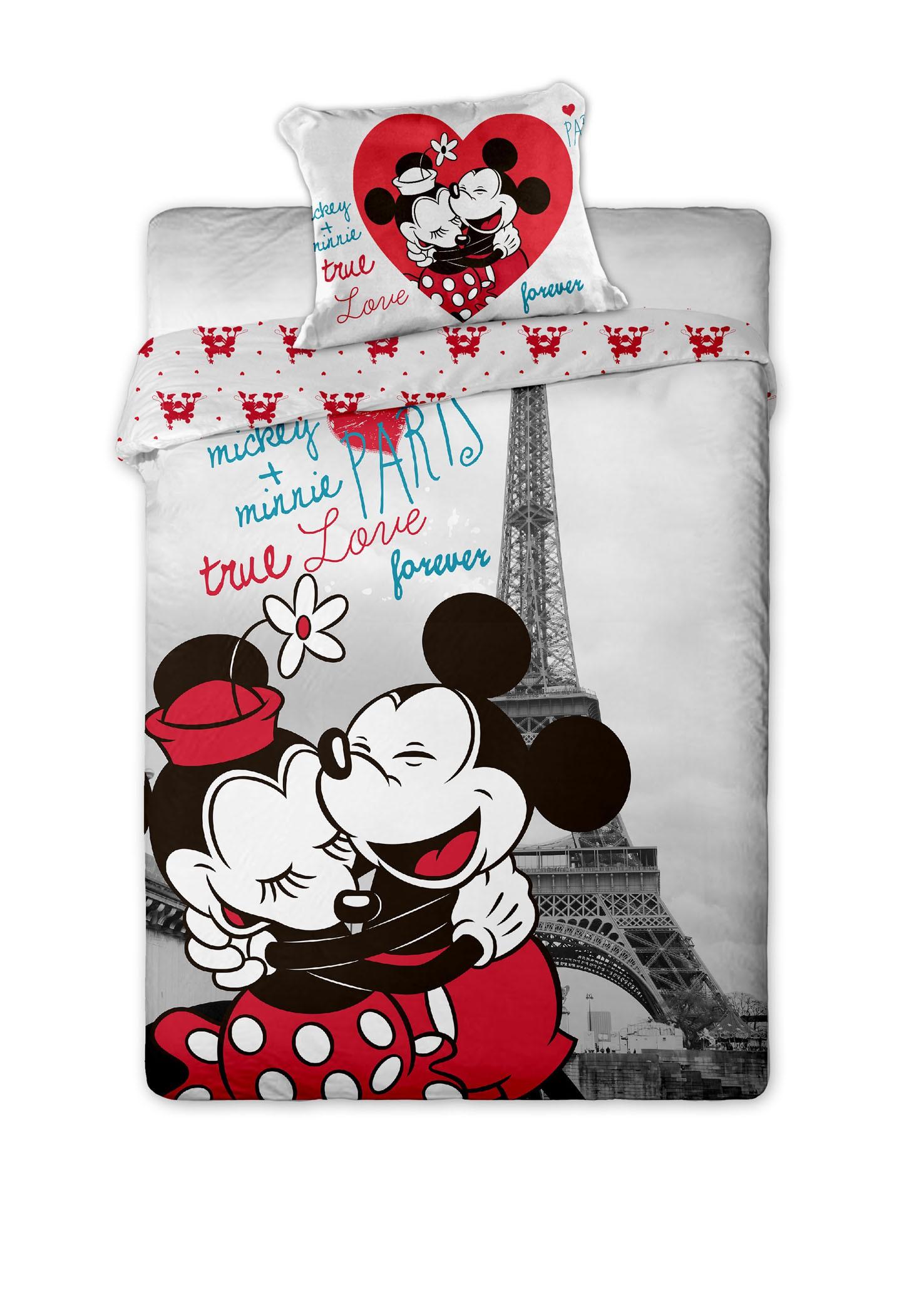 Dětské bavlněné povlečení Disney Mickey and Minnie v Paříži