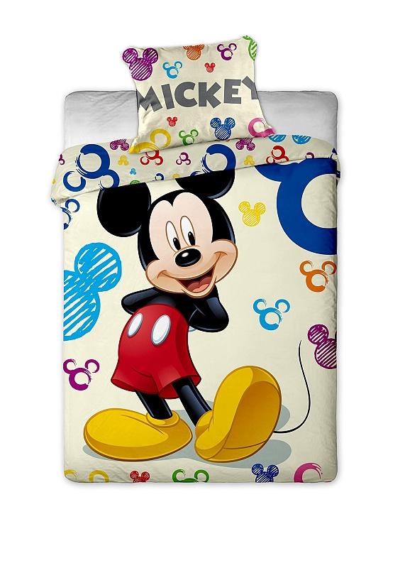 Dětské bavlněné povlečení Disney Mickey Colours