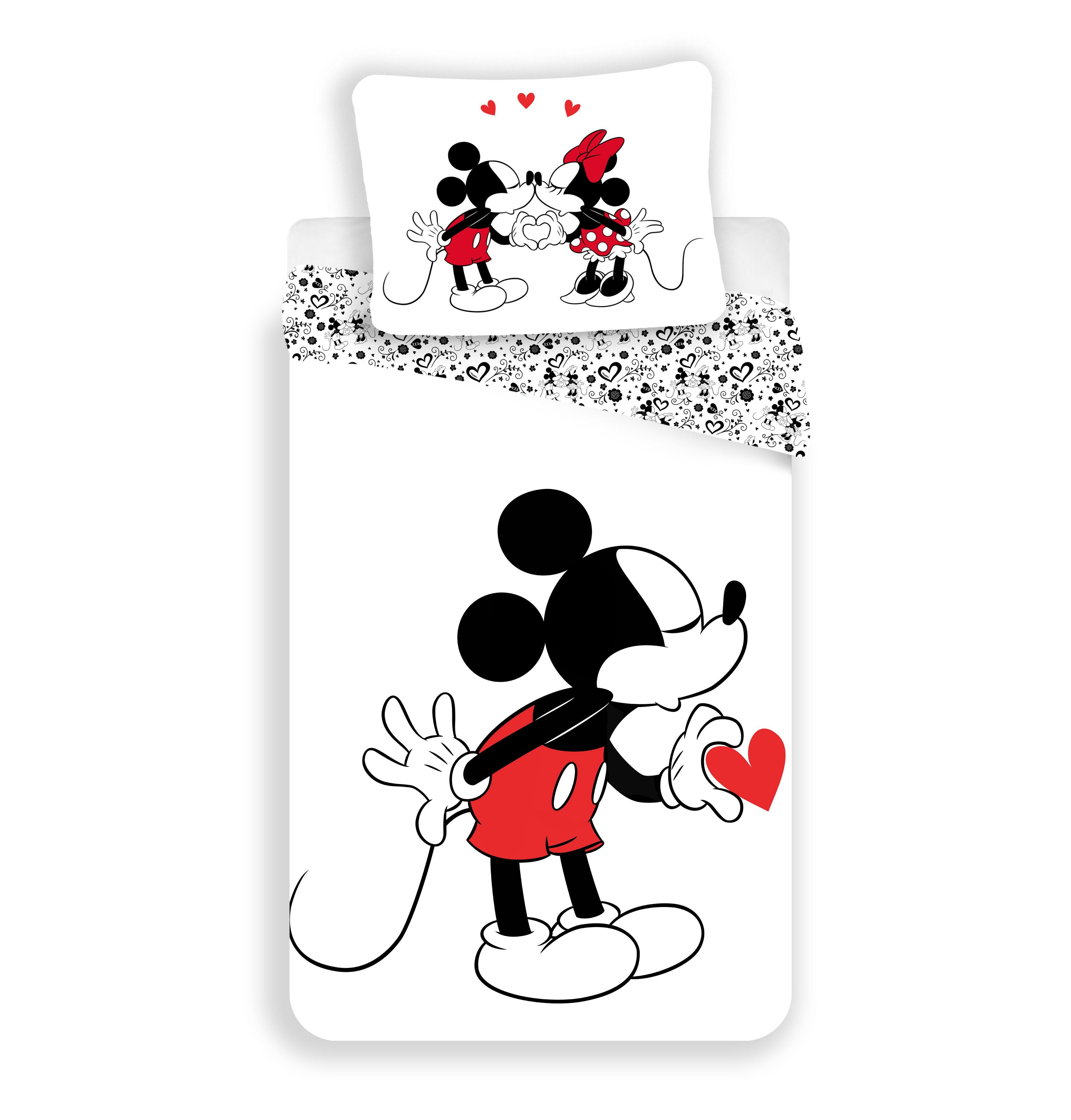 Dětské bavlněné povlečení Disney Mickey hearts