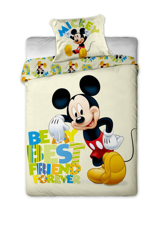 Dětské bavlněné povlečení Disney - Mickey letter