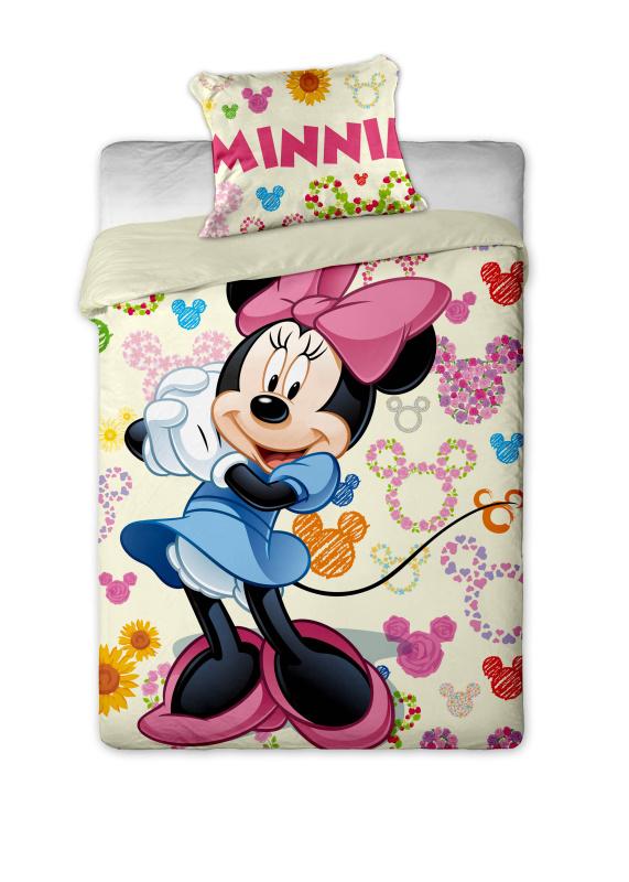 Dětské bavlněné povlečení Disney - Minnie colours