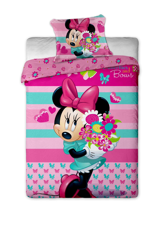 Dětské bavlněné povlečení Disney Minnie flower