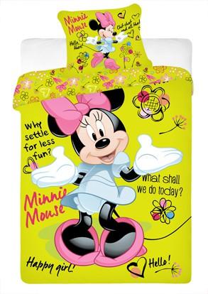 Dětské bavlněné povlečení Disney Minnie green