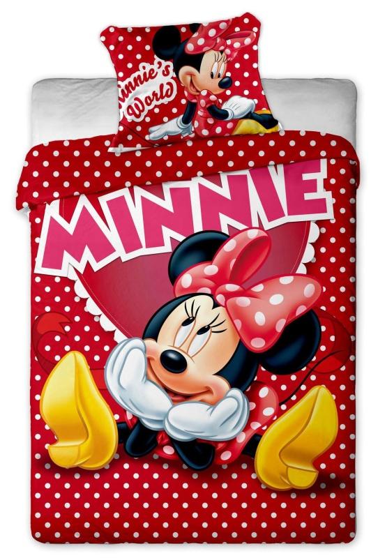 Dětské bavlněné povlečení Disney Minnie hearts