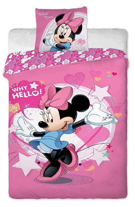 Dětské bavlněné povlečení Disney - Minnie pinkie 2013