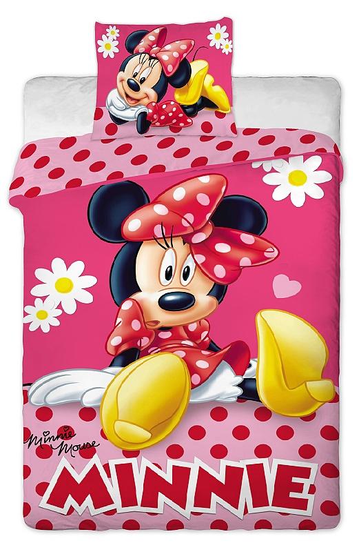 Dětské bavlněné povlečení Disney Minnie pinkie dot