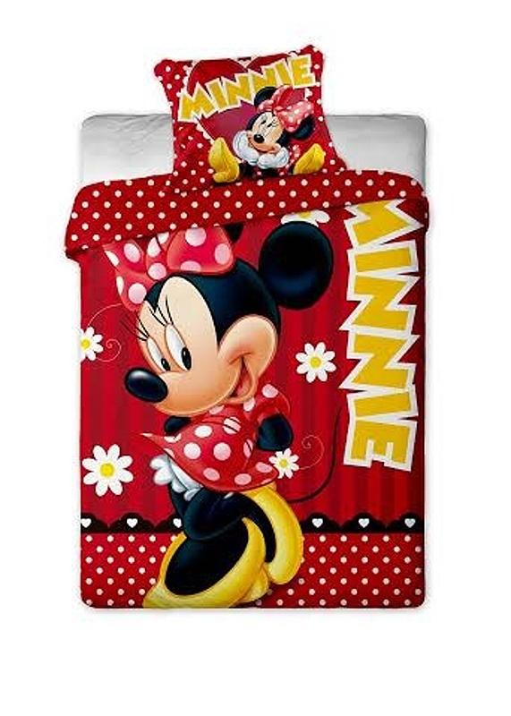 Dětské bavlněné povlečení Disney Minnie red dot