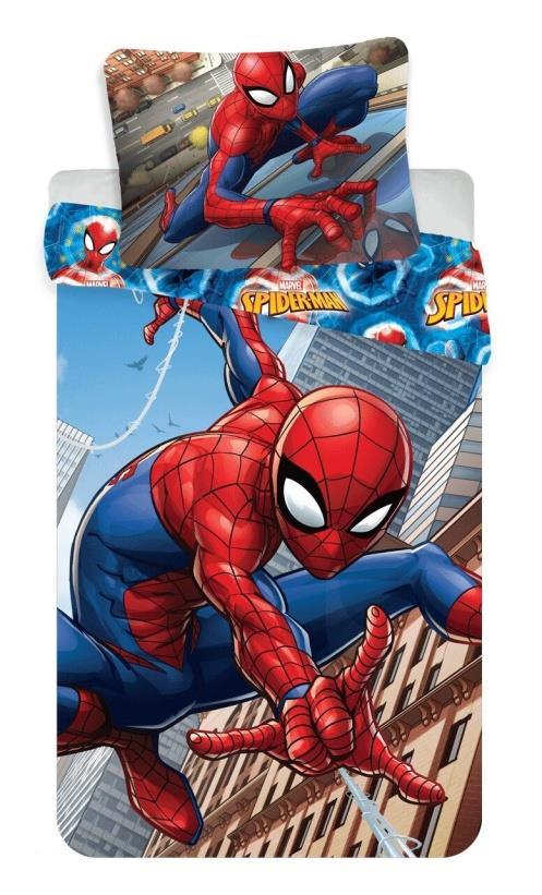 Dětské bavlněné povlečení Disney Spiderman climbs