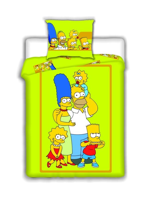 Dětské bavlněné povlečení Family Simpsons 2015