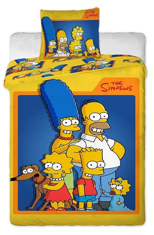 Dětské bavlněné povlečení - Family Simpsons