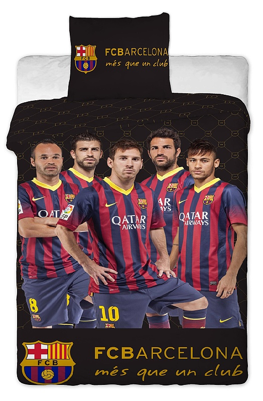 Dětské bavlněné povlečení - FC Barcelona players