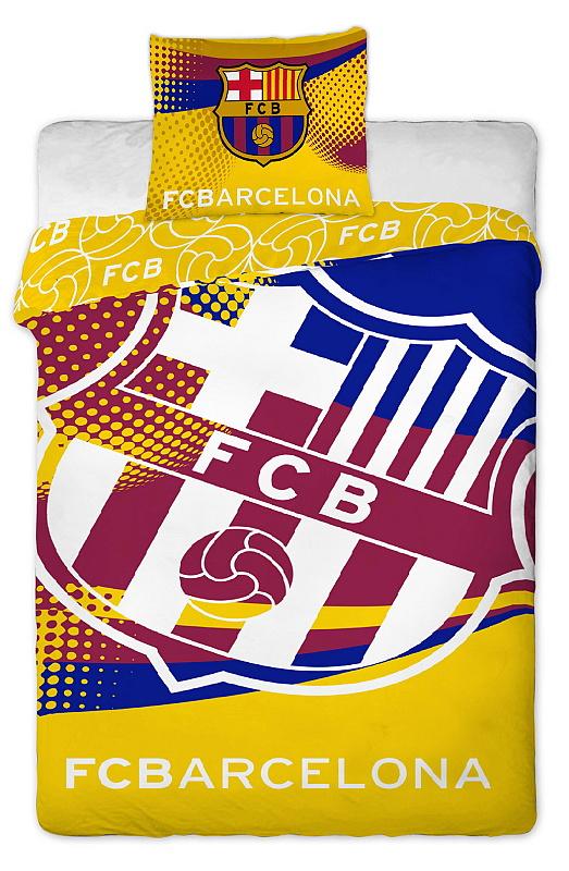 Dětské bavlněné povlečení FC Barcelona yellow