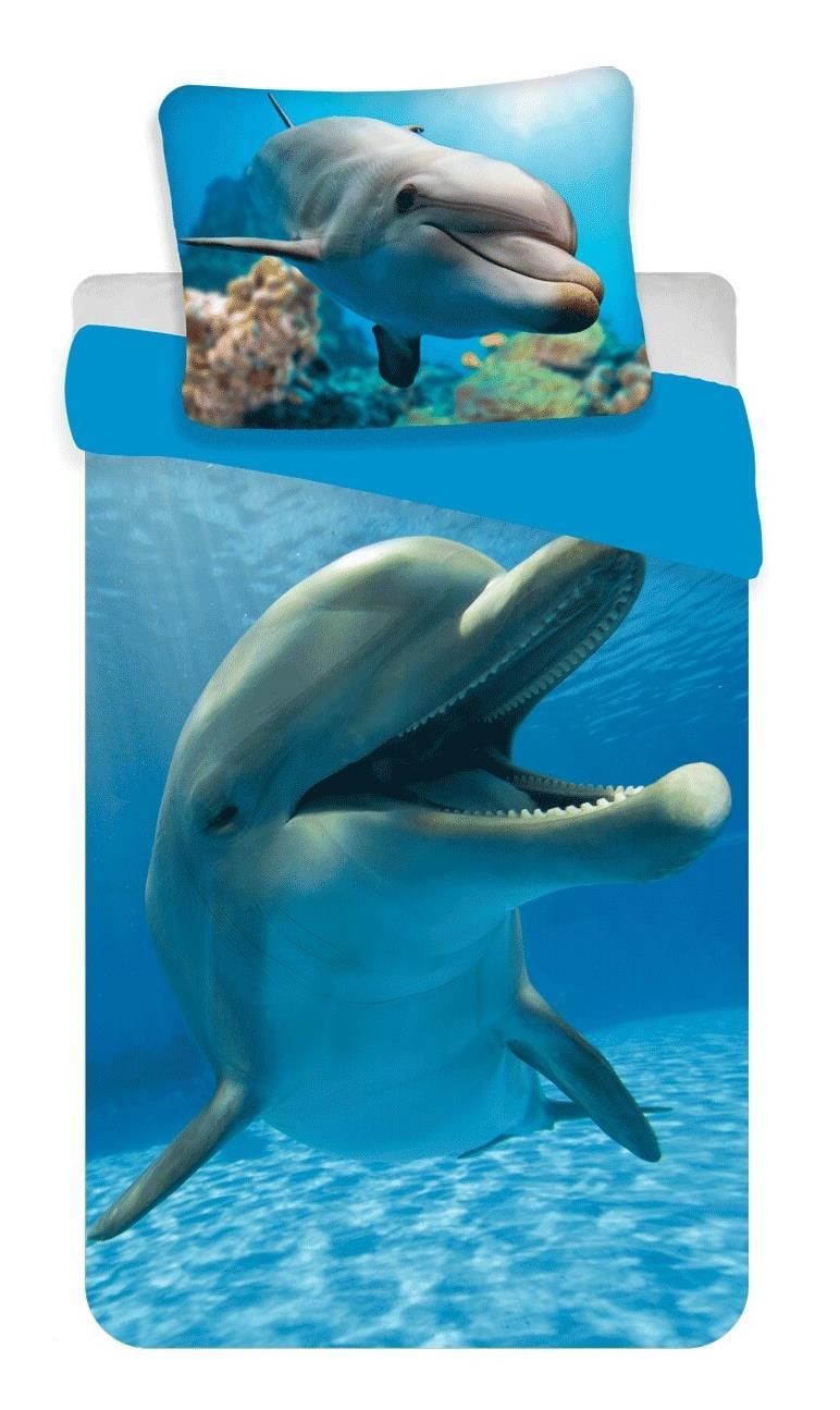 Dětské bavlněné povlečení fototisk Delfín