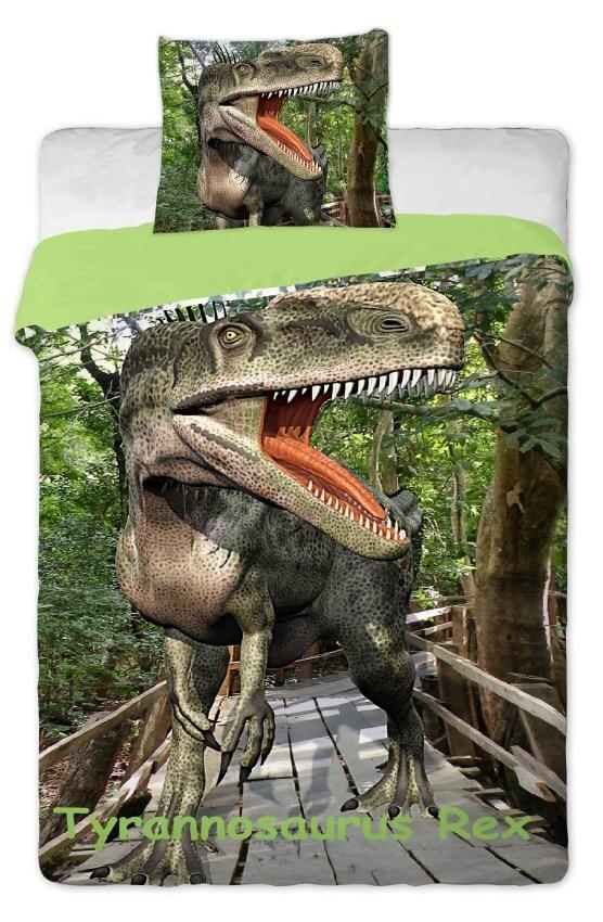 Dětské bavlněné povlečení fototisk Dinosaur 2015