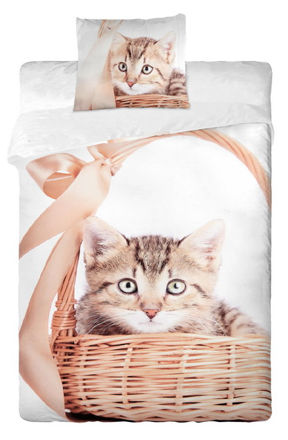 Dětské bavlněné povlečení fototisk - Kočka 2013