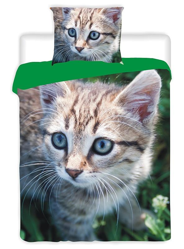 Dětské bavlněné povlečení fototisk Kočka 2015