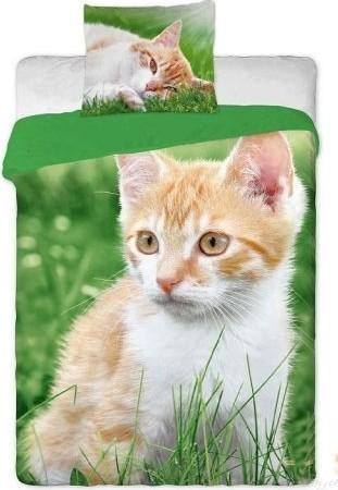 Dětské bavlněné povlečení fototisk - Kočka zrzavá