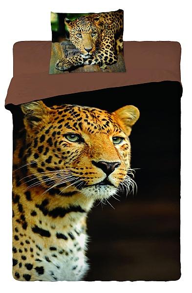 Dětské bavlněné povlečení fototisk - Leopard 2013