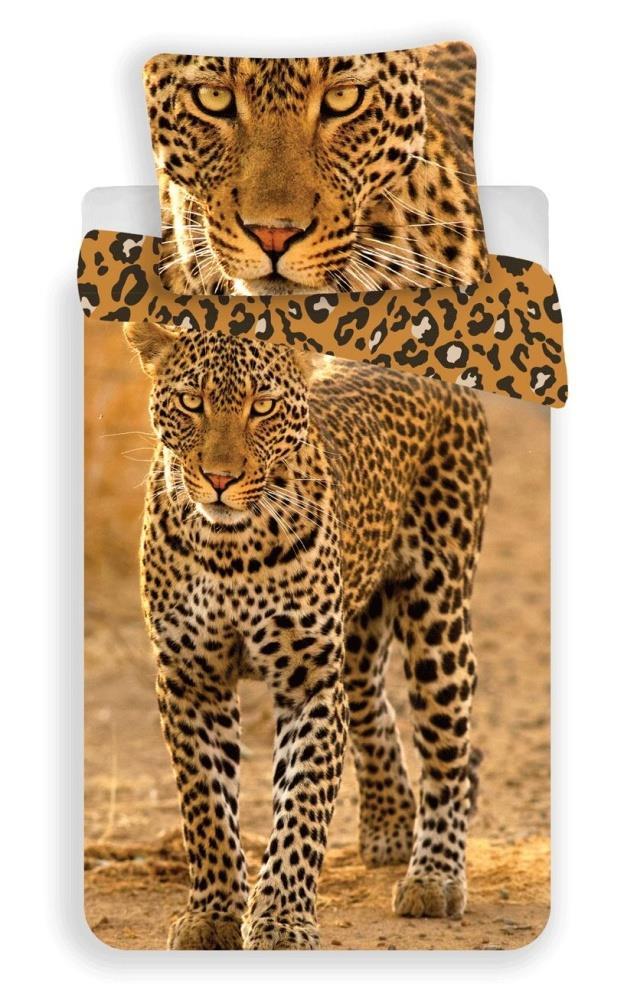 Dětské bavlněné povlečení fototisk Leopard 2017